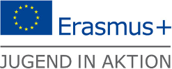 Logo: Erasmus, Jugend in Aktion